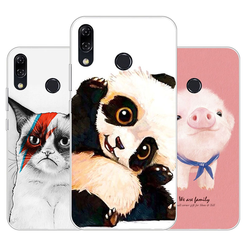 Asus Zenfone 5 ZE620KL Case,Silicon panda cartoon Painting Soft TPU Back Cover for Asus Zenfone 5Z ZS620KL protect Phone cases