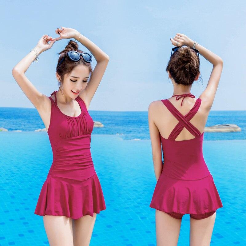 ФОТО NIUMO New Swimsuit woman one-piece Big chest Big yards Swimsuit sexy gathered