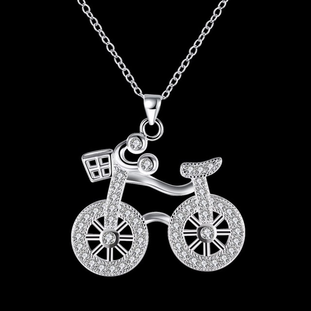 Girls and boys fashion jewelry 18 inch bicycle pendant chain 925 girls and boys fashion jewelry 18 inch bicycle pendant chain 925 pure silver plated charm bike aloadofball Image collections