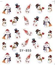 Блеск воды наклейка ногтей наклейки Рождество Дед Мороз оленей sy855-860