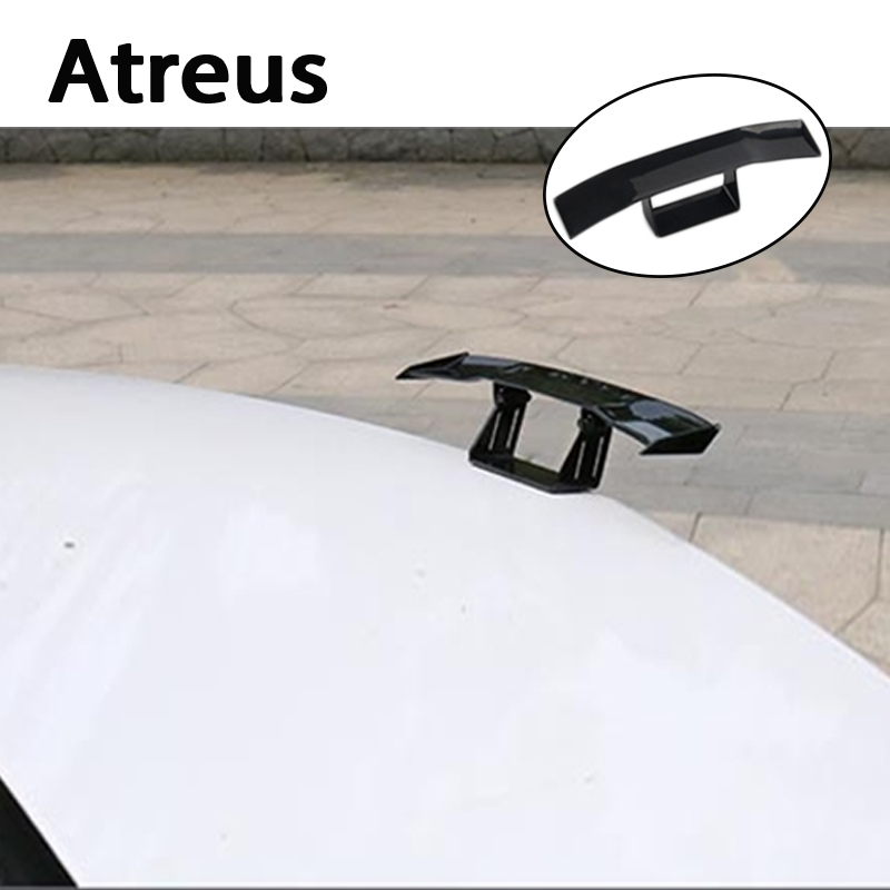 Atreus Car Mini GT Spoiler Wing Carbon Fiber Tail Stickers For VW polo passat b5 b6 Mazda 3 6 cx-5 Toyota corolla Ford focus 2 3 latest allscanner vxdiag nano pro diagnostic tool for gm ford mazda vw toyota volvo jlr with dhl shipping