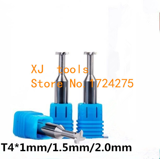 Free Shipping 1PCS T4*1mm/1.5mm/2mm Cemented Carbide T Type Milling Cutter ,end Mill For Cnc Machine
