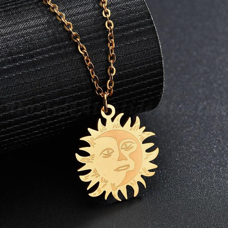 GiftJewelryShop Bronze Retro Style Landmark Devils Tower Sun Flower Pendant Charm Necklaces
