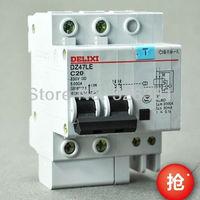 DZ47LE C20 Earth Leakage Circuit Breaker 2P C16 C60 230V Earth Leakage Protection Circuit Breaker Switch