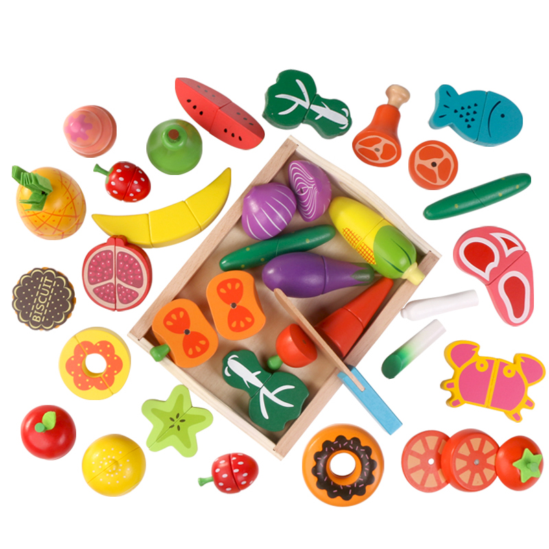 10Pcs Baby Wooden Toys Pretend Play Kitchen Toy Cutting Simulation Fruit/Vegetable/Dessert Food Toddlers-Girl Play with friends dla58 cnc processed gasoline engine petrol engine 58cc for gasoline airplanes with walbro carburetor and nsk bearing
