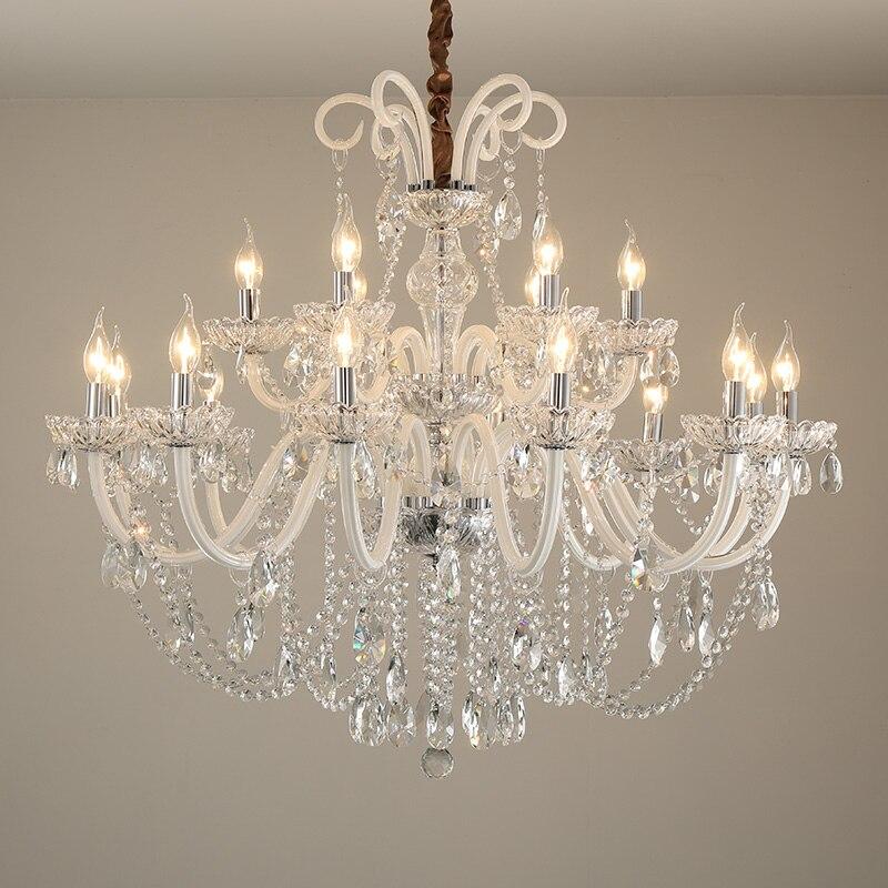 ホワイトクリスタルキャンドルシャンデリアリビングルームクリスタルシャンデリアの照明 · レストランライト衣料品店の装飾ランプ -