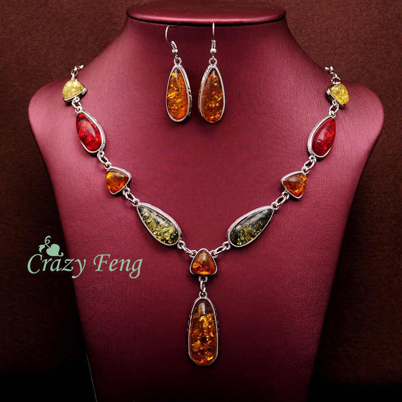 Women's Vintage Retro  Gold-color  African Jewelry Sets Necklace + Earrings Wedding sets Free shipping
