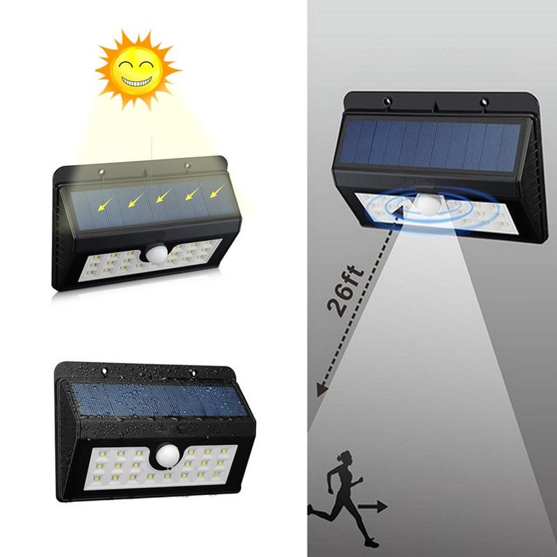 20 Led Solar Powered Bewegungsmelder Licht Im Freien Flutlicht Garten Scheinwerfer Terrasse Pathway Lampen Notbeleuchtung