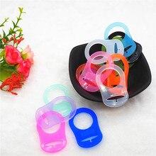 Chenkai 1000 sztuk BPA bezpłatne przezroczyste silikonowe smoczek dla niemowląt pierścienie DIY Mam NUK Dummy Adapter O pierścienie opieki zabawki akcesoria