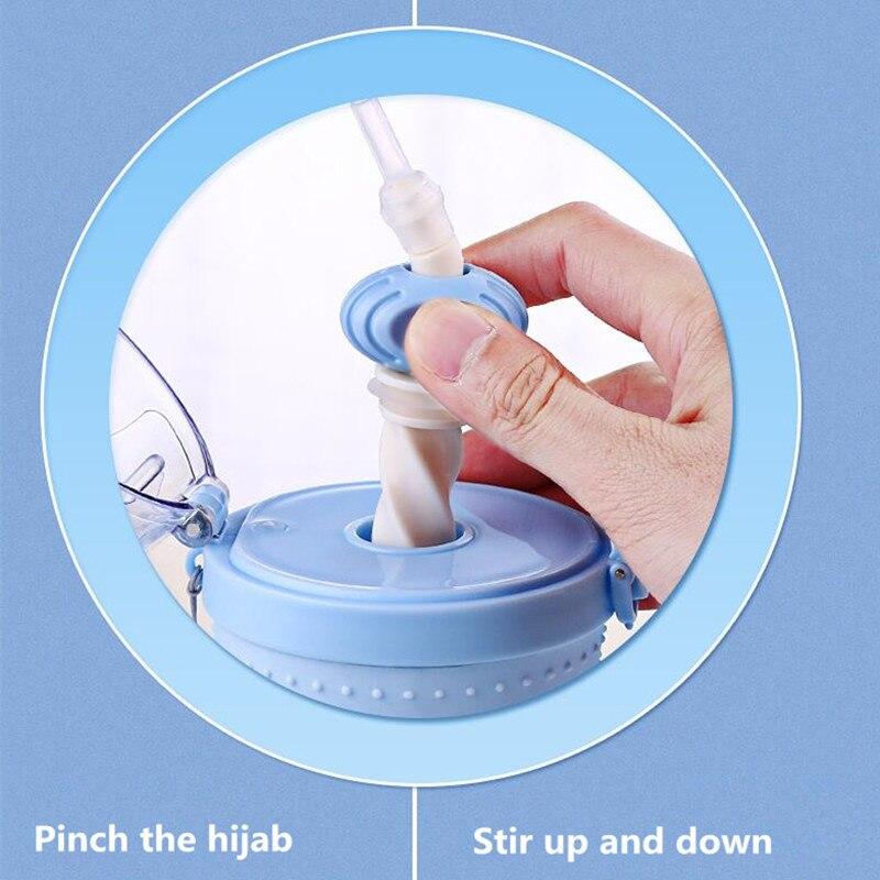 BAISPO 500ML Portable Water Bottle Protein Shaker Mixer Straw Stirrup Plastic Sport Shake Outdoor Coffee Milk Kettle