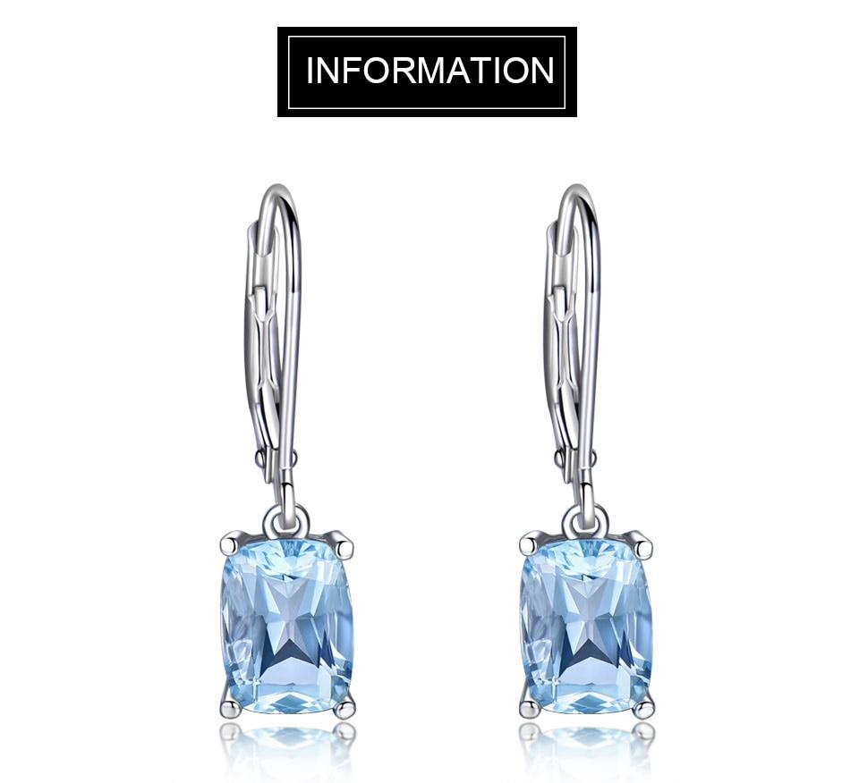 Honyy Sky blue topaz silver sterling jewelry sets for women EUJ054B-1-pc (1)