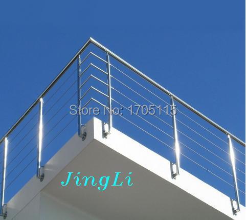 Stainless Steel Deck Railing Designs Outdoor Stair Railing Design | Stainless Steel Handrails For Outdoor Steps | Modern | Safety | Staircase | Garden | External