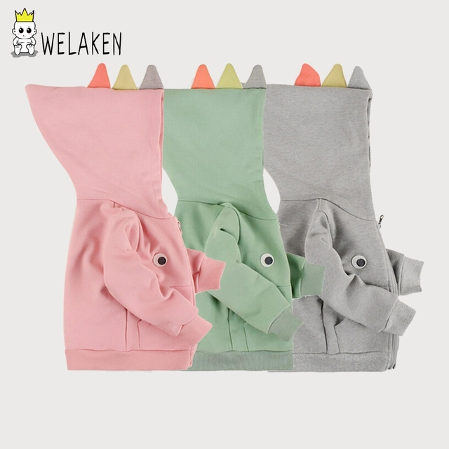 Venta caliente 2017 nova niños sudaderas niños niñas sudadera dinosaurio moda estilo de manga larga primavera otoño niños clothing brand