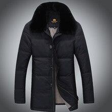2015 New Hot Thicken Warm Men Down jacket Coat Parkas Outerwear Cold Casual Mid Long Luxury  Plus Size 3XXXL Rabbit Fur collar