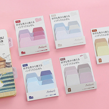 1Pcs Colorful Simple Gradient Color Self-Adhesive Indexes Memo Pad Sticky Notes Bookmark office & school supplies stickers simple colorful self adhesive memo pad sticky notes bookmark school office supply