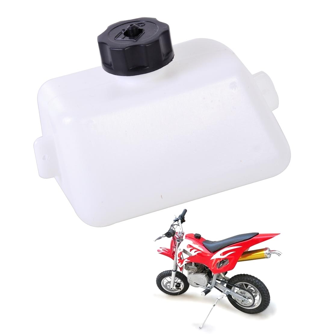 Dwcx new motorcycle white plastic gas fuel tank fit for 2 stroke 43cc 47cc 49cc mini