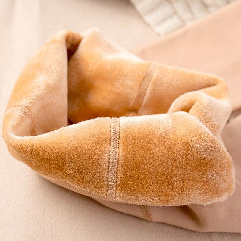 Jinjin. QC Большие размеры бархатные толстые леггинсы женские теплые леггинсы высокого давления Колготки зимние че