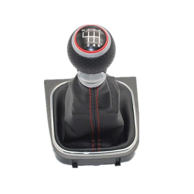 Для VW Golf 5 MK5 R32 для GTI 2004 2005 2006 2007 2008 2009 автомобильный-stying 6 Скорость автомобиля Шестерни переключатель ручки для включения и выключения с кожаные ботинки