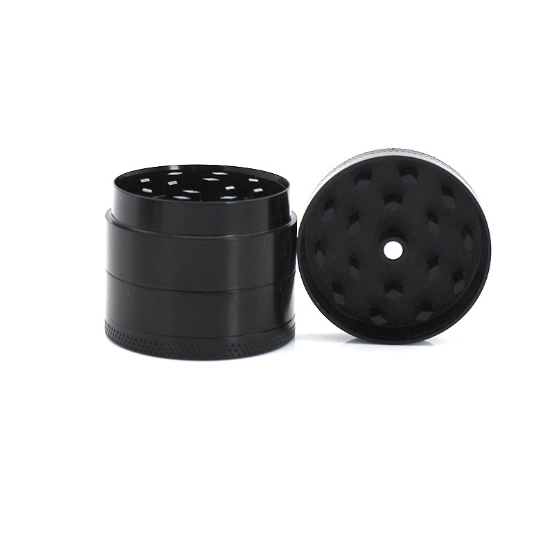 Portable 4 Layers Mini Aluminum Alloy Herbal Herb Cigar Tobacco Grinder Smoke Smoking Crusher Hand Muller Gadget//Black