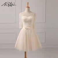 ADLN Scoop Half Sleeve Cheap Cocktail Dresses A Line China Lace Mini Party Dresses Vestidos De