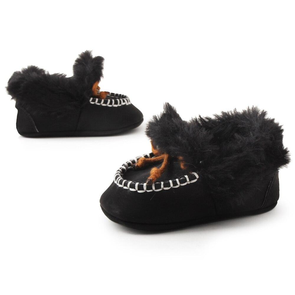 Delebao pluizige winter baby laarzen warme pasgeboren lace-up peuter - Baby schoentjes - Foto 2