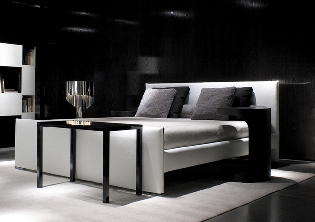 2013 NEW Minotti Venice Genuine Leather Home Soft Bed Bedroom Furniture Modern Style