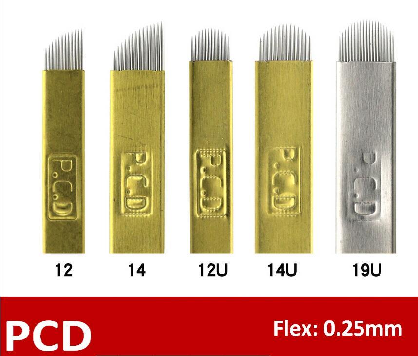 2000pcs lot Microblading Needle Blade Tebori Hard Pcd 12 14 12u 14U 19U Permanent Makeup Microblading