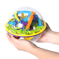 Intellect 3D Maze perplexus magnetic Ball 158 Steps Barriers Marble Puzzle Amaze Maze Puzzle Game IQ Balance Educational Toys