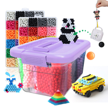 6000pcs 24 colors Refill beads puzzle Crystal DIY water spray set ball games 3D handmade magic toys for children