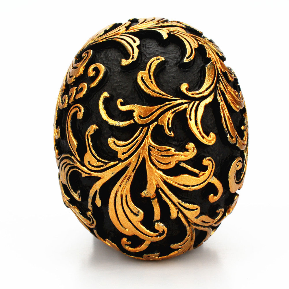 Смола ремесло черный череп голова Золотая резьба Хэллоуин украшение для вечеринки скульптура черепа украшения для дома аксессуары