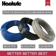 Haokule 4AN/AN4 PTFE тефлон оплеткой из нержавеющей стали с черный/прозрачный/синий ПВХ покрытие