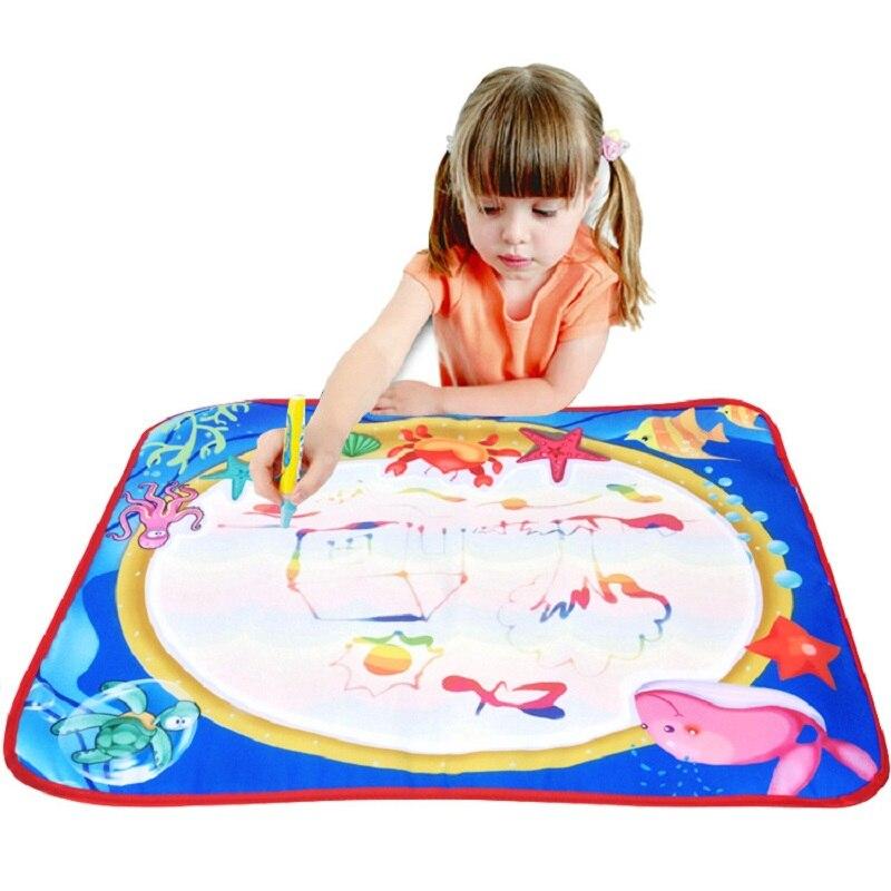 60*47 см Детские добавить воды с Magic Pen Doodle картина Вода Рисование играть мат в рисунок игрушки доска подарок на Рождество
