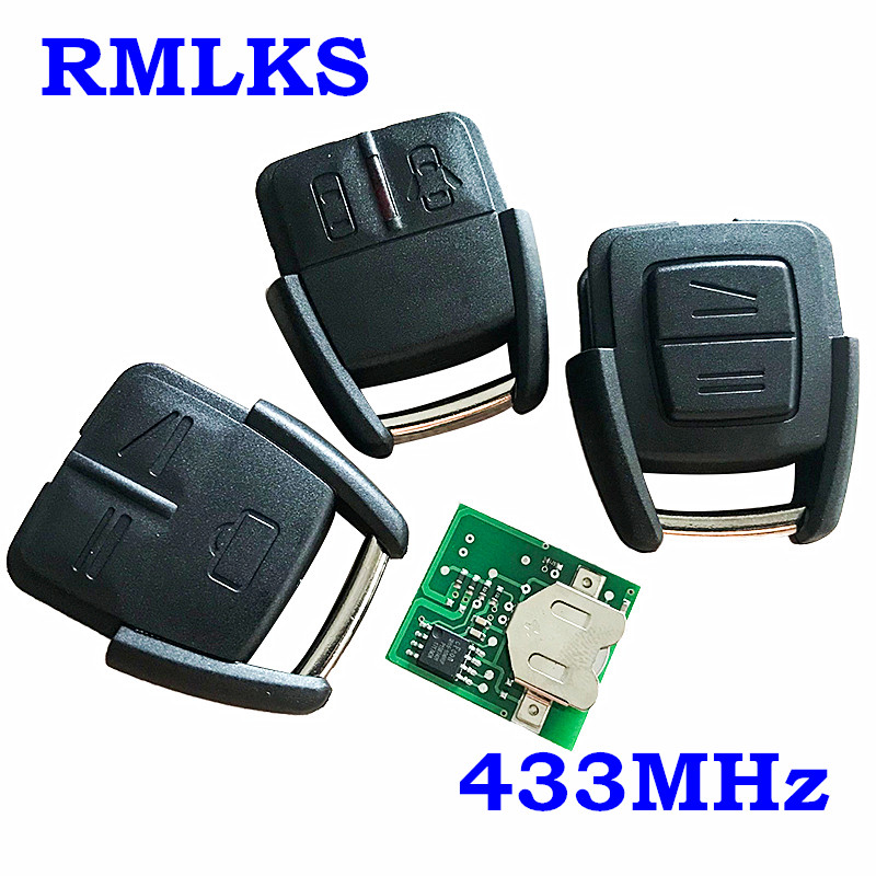 RMLKS <font><b>Remote</b></font> Control <font><b>Key</b></font> Fob Fit For <font><b>Opel</b></font> Vauxhall For Astra Vectra Zafira 2 Button 433.92MHz Replacement Keyless Entry Alarm image