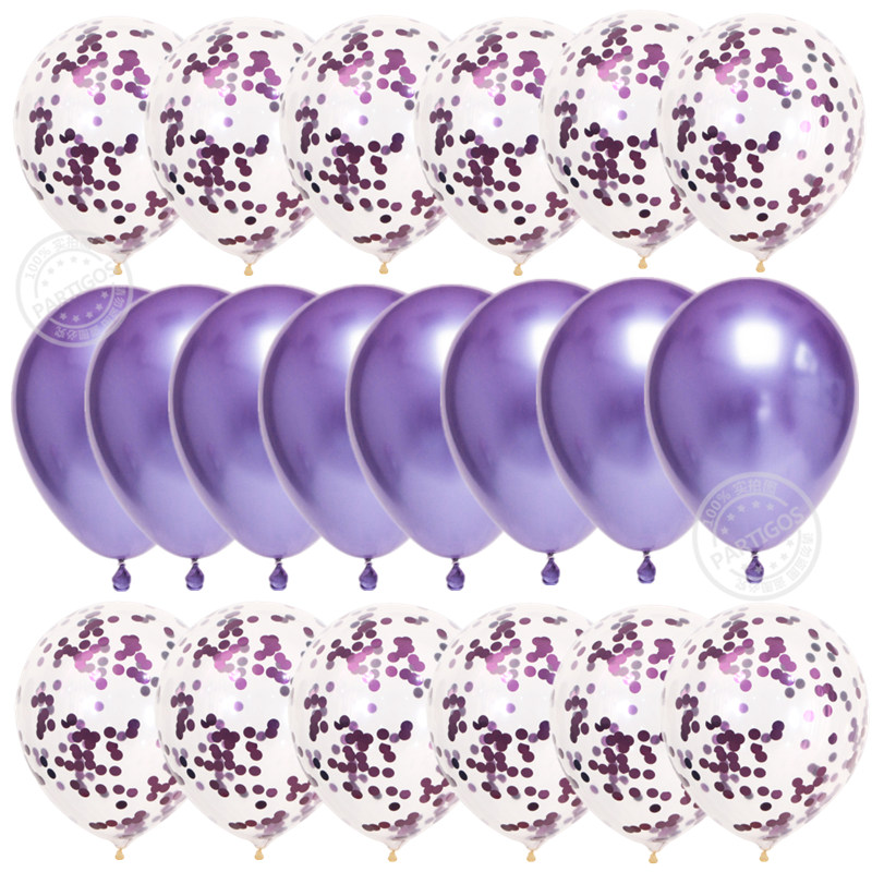 20pcs Rose Gold Confetti Set Balloons For Birthday Party And Wedding Decoration 13