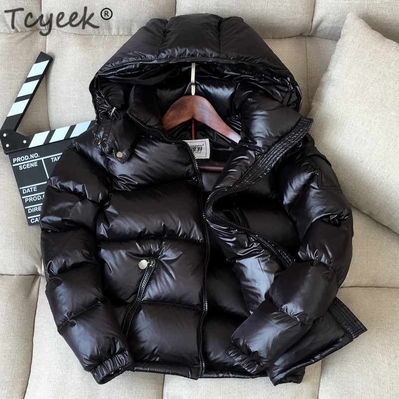 Tcyeek Winter Jacket Women 2019 New Winter Coat Thick Warm Female Down Jacket Hooded Short Women's Parkas Down Coats LWL1116