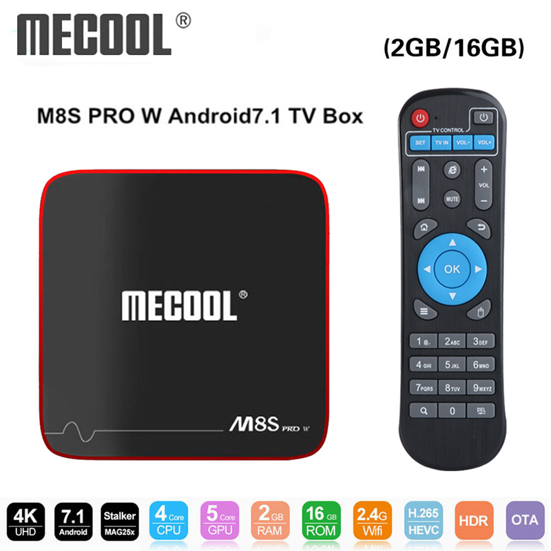 Mecool M8S PRO W caja de TV inteligente Android 7,1 Amlogic S905W 1 GB 8 GB 2 GB 16G MAG 250 acosador IP TV Box 2,4G WiFi PK x96 mini