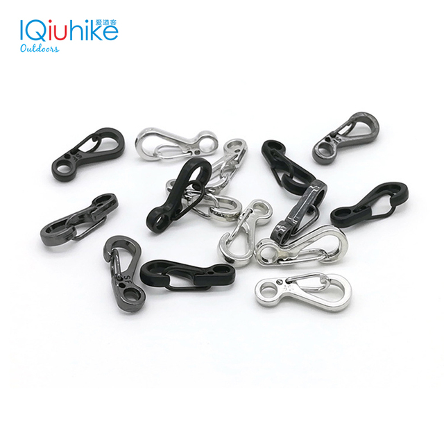 10PCS EDC Keychain Spring Clasps Climbing Carabiners Camping Bottle Hooks Paracord buckle Accessorie Tactical Survival Gear