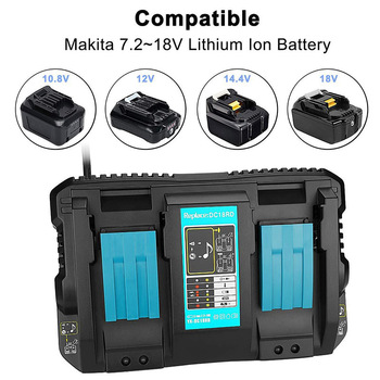 Dual Charger 14.4-18V DC18RC Fast Charging Fit for Makita Battery SKD88