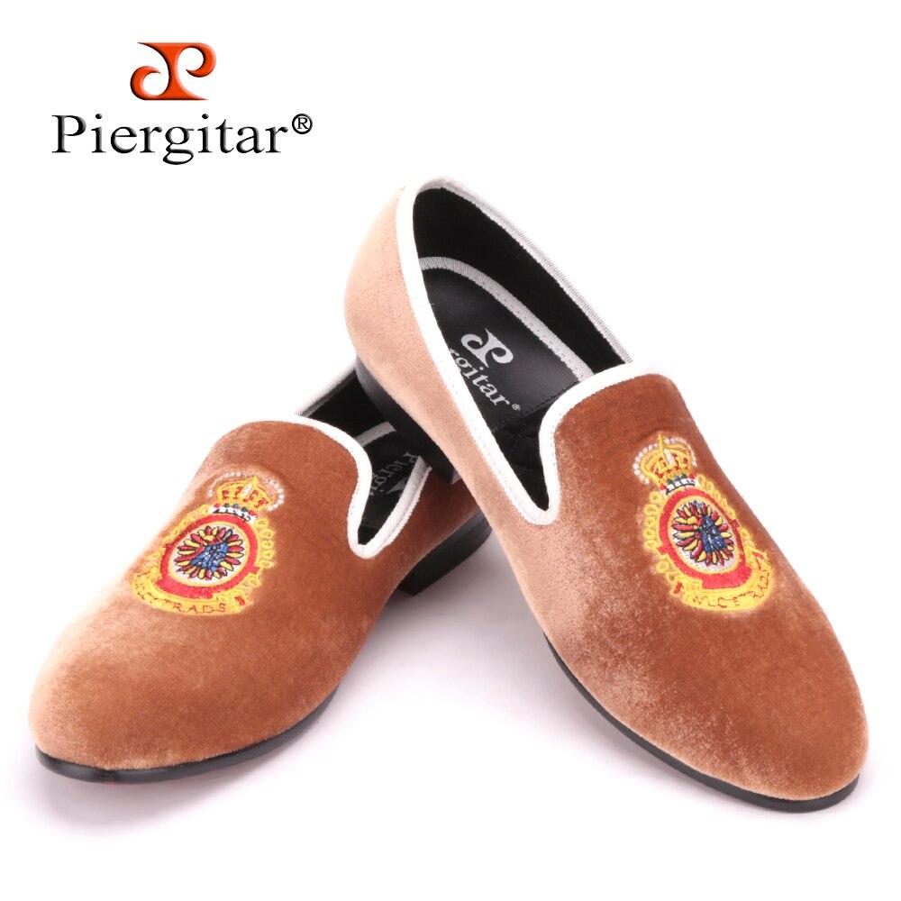 super populaire 53363 af98d € 80.87 |Turquie couronne broderie marron hommes velours chaussures hommes  grande taille mocassin chaussures plates pour homme taille 4 17 livraison  ...