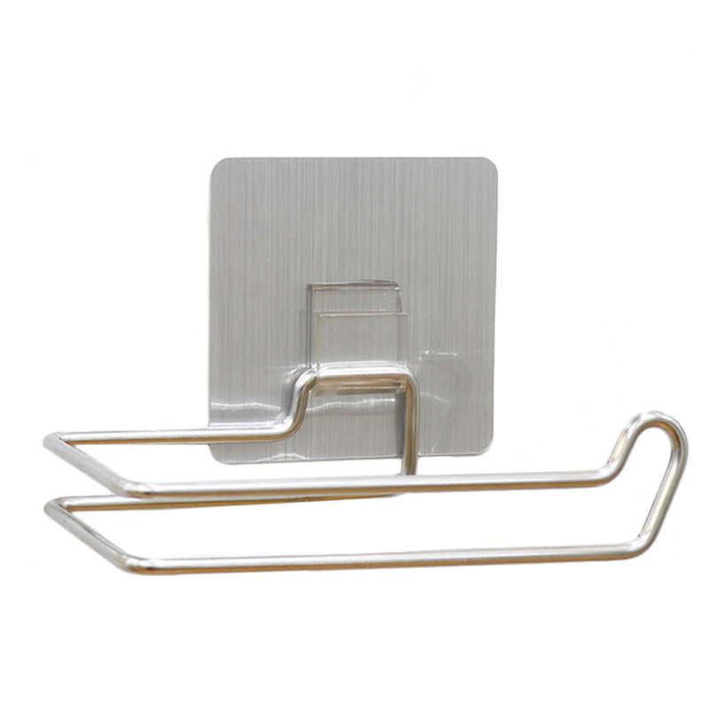 ステンレス鋼キッチンティッシュホルダーぶら下げ浴室トイレロール紙ホルダーキッチンペーパータオルホルダー繰り返し洗える