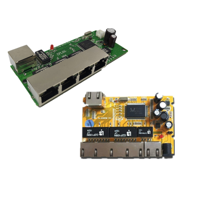 Image 5 - 5 port Gigabit switch module is widely used in LED line 5 port 10/100/1000 m contact port mini switch module PCBA Motherboard-in Network Switches from Computer & Office