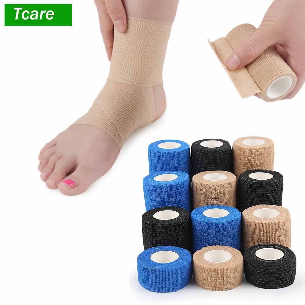 Self Adherent Wrap Self Adhesive Tape Cohesive Bandage Tape, Strong Elastic Sports Tape for Wrist, Stretch Athletic Tape