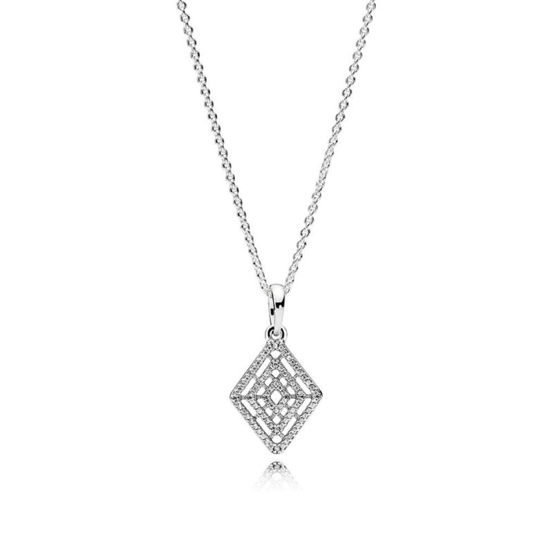 KAKANY Geometric Cascading Glamour Necklace Has Logo 100% Pure Silver Foundation Chain Factory Wholesale Free Mail Womens