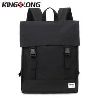 KINGSLONG Canvas Men&Women Hasp Backpack Student School Bag Large Capacity Trip Backpack Laptop Backpack for 15 inches KLB1560 6