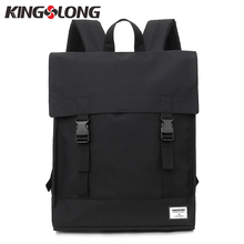 KINGSLONG Canvas Men&Women Hasp Backpack Student School Bag Large Capacity Trip Backpack Laptop Backpack for 15 inches KLB1560-6