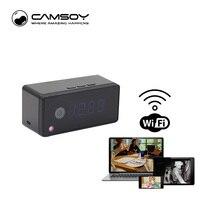 Función de intercomunicación tabla reloj de la Cámara 720 p HD WiFi IP P2P cámara mini cámara infrarroja de visión nocturna grabadora de voz mini DV Cámara