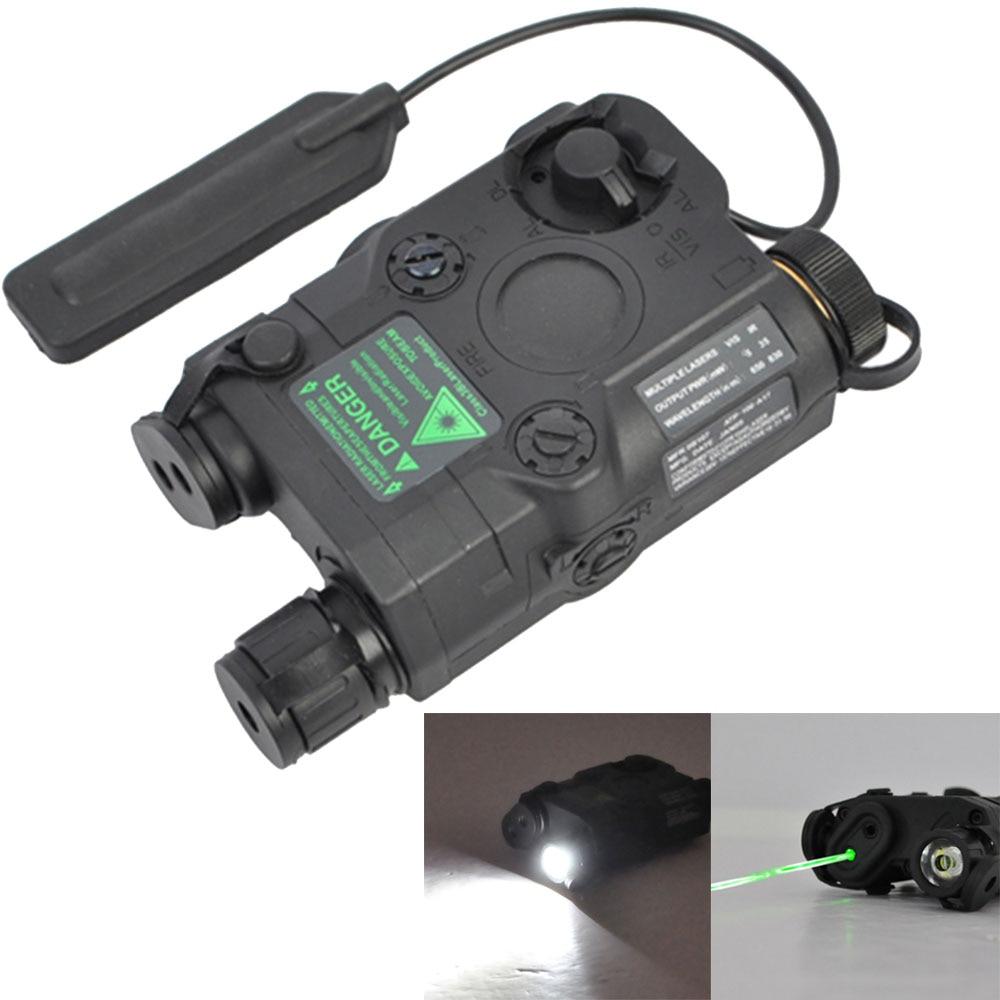 Tactique Airsoft Gun Vert Laser led Lumière Blanche lampe de Poche avec IR Lentilles PEQ-15 pour Chasse Tir