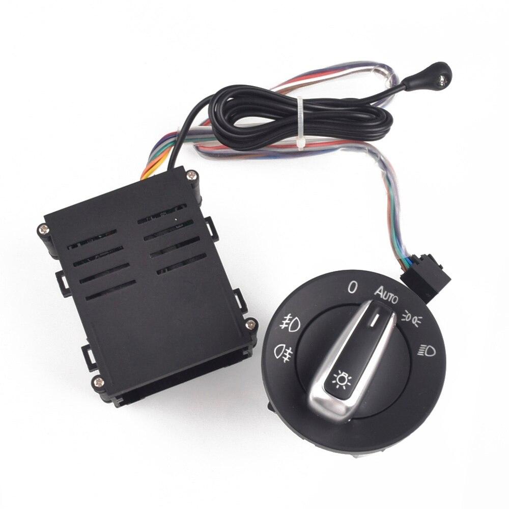 Voiture Chrome interrupteur de lumière Auto lampe capteur lumière pour VW Golf 4 MK4 nouvelle Jetta MK4 Passat B5 Polo Bora Beetle 3BD 941 531 + AUTO