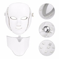 Whitening Massager LED 7 Colors Light Microcurrent Facial Mask Machine Photon Therapy Skin Rejuvenation Facial Neck