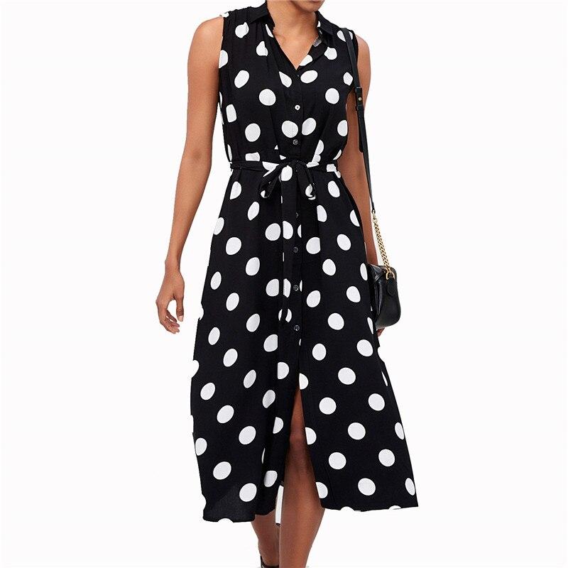 fb9b3b076ca4d Summer Dress 2019 Women Casual Polka Dot Print Long Maxi Dress Femme ...